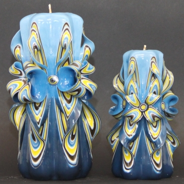 Set of couple Blue with Flowers