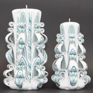 Set of couple White and Turquoise