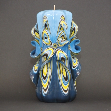 Big Blue candles, Mens gifts, Carved candle, Vanity lighting, Decorative candles, EveCandles