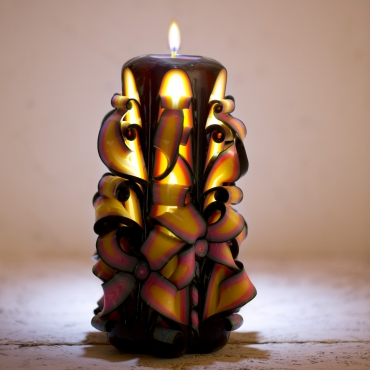 Big Rio carved candle, Candle making, Decorative candles, Gift for men, Black candle, EveCandles