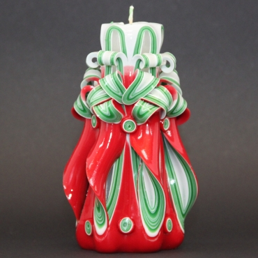 Medium Christmas tree candle - Party decoration - Carved candle - Purity candle - Christmas gift