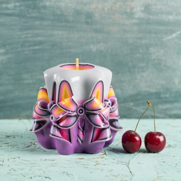 Baby gift ideas, Purple Decorative Carved candle, Christmas gift ideas for kids, handmade